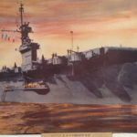 Al Cloud USS Sargent Bay painting