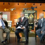 Fiske Hanley speaking at the Frontiers of Flight Museum