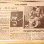 "Newspaper clipping about Jeffrey Leynor, the ""Rock 'n Roll Rabbi"""