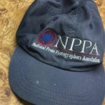 Jerry Kasten's National Press Photographers Association hat