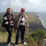 Laura Leppert, President of Daughters of World War II, and Don Graves during the 68th Anniversary of Iwo Jima
