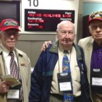 Iwo Jima 68th Anniversary Don Graves, Fiske Hanley and Bill Schott