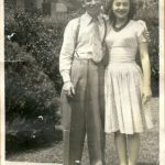 Red Coleman and his wife in 1943