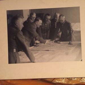 Original photo of Hitler making battle plans