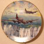 Conrad Lohoefer's plate with the White Cliffs of Dover, which would always signal to the pilots that they were home.