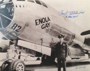 Al Cloud autograph from Paul Tibbets