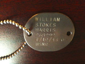 Bill Harris' Dog Tag