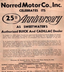 1963 25th Anniversary Newspaper Advertisement