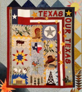 One of many quilts made by Bill Wilhoit's wife, Alice