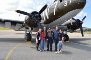Bill Prindible – Family with WWII Plane