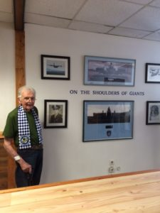 Bill Prindible Visits an honor wall