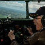 Bill Prindible flying C-47 over Normandy France 70th Anniversary Normandy invasion June 6, 2014.