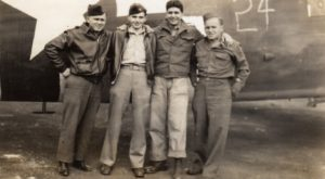 Bill Prindible with Holland Market Garden combat crew September 1944