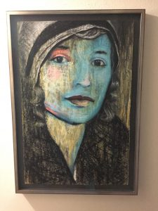 A painting of Bryan's grandmother