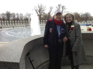 Clyde Jackson on Pearl Harbor Day 2012 in DC with Daughters of WW II