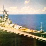 The battleship Dick Hamann served on, the USS Wisconsin