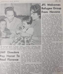 Feature story about the arrival of the Bramnicks in Dallas