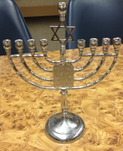 This Menorah was the Bramnick's prized possession that they took from Cuba when they came to the USA
