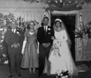 Fonda Arbetter's parent's wedding with her paternal grandparents Abe and Libby Schepps 1953
