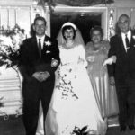 Fonda Arbetter's parents wedding with her maternal grandparents Max and Marguerite Cohen 1953