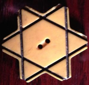 Gallia Benglas' mother and all Jews in Bulgaria were required to wear this plastic yellow star