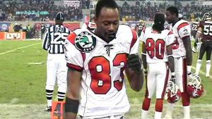 Romby Bryant on the sidelines for the Falcons
