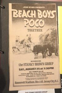 Concert Poster with the Beach Boys Headlining and Jeffrey Leynor's band opening for them