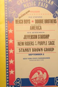 Music Festival Poster with the Beach Boys Headlining and Jeffrey Leynor's band opening for them