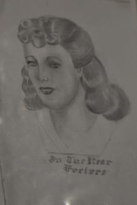 Drawing by Jack Bridges of his future wife, Edna, before he even met her