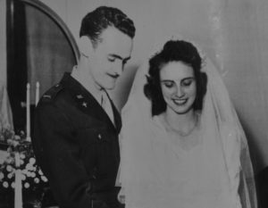Jack and Edna Bridges wedding day