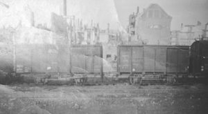 Railroad Boxcars like the ones Jack Repp and about 150 other prisoners were crammed into when moved from one camp to another camp.