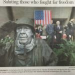 "Newpaper Article ""Saluting Those Who fought for Freedom"" Jerry Kasten, Korean War Veterans Memorial in Washington, D.C"