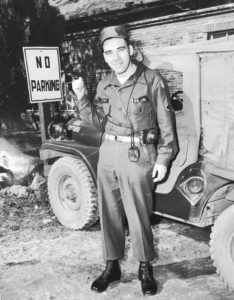 Sgt. Jerry Kasten in uniform during the Korean War Era