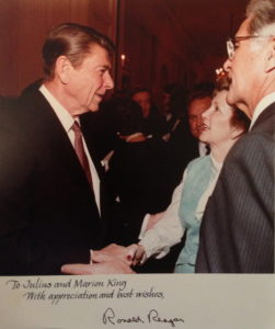 Julius and Marion King with President Reagan