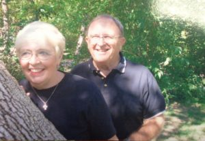 Marna Brown with her late husband John