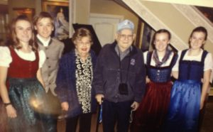 Marty Daneman, wife and Von Trapp grandchildren