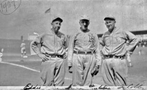 Eddie Collins, May Sebel's Grandfather Hyman Pearlstone and Ty Cobb