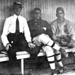 Connie Mack, May Sebel's Grandfather Hyman Pearlstone and an unidentified player.