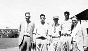 May Sebel's photo of Henry Pearlstone, William Budner, Connie Mack and her Grandfather Hyman Pearlstone