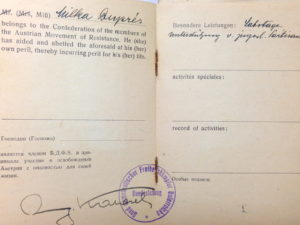 Miki Snediker's membership in the Austrian Resistance Movement – 2