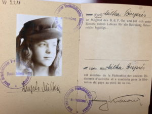 Miki Snediker's membership in the Austrian Resistance Movement