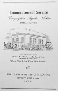 Norma Shosid's bulletin from Congregation Agudas Achim