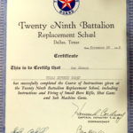 Norma Shosid 's father's certificate of training
