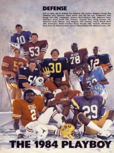 Liffort Hobley in the 1984 PlayBoy All-American Defense team