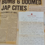 Page 1 - Farber Scrapbook with letters and headlines from WWII