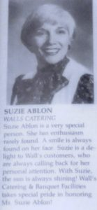 "Suzi Ablon ""Sales Woman of the Year"""