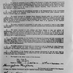 Ted Weller's copy of the Japanese surrender of the South Pacific