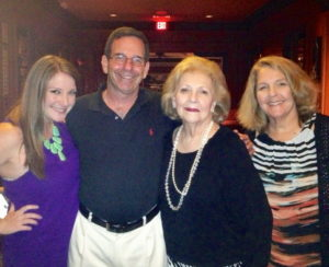 Fonda Arbetter's oldest daughter Stephanie, Fonda's husband Jay, her mother Madelyn Schepps and Fonda Arbetter