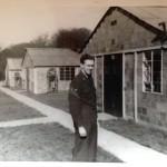 Rex Crowell in front of the Air Force medical buildings