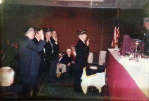 Bernie Dworkin at a Navy event